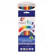 Карандаши цветные 12 цв, 6-гран, ЛУЧ Классика,29С 1710-08