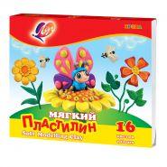 Пластилин мягкий 16 цветов Луч Кроха