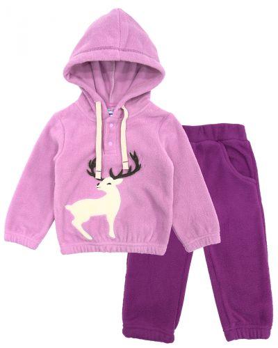 """Флисовый костюм для новорожденных Bonito kids """"Deer"""" сиреневый"""