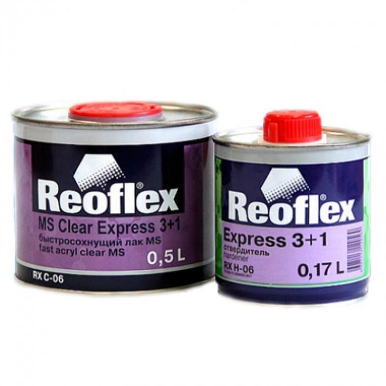 REOFLEX MS EXPRESS Лак акриловый, комплект 0,5+0,167 л.