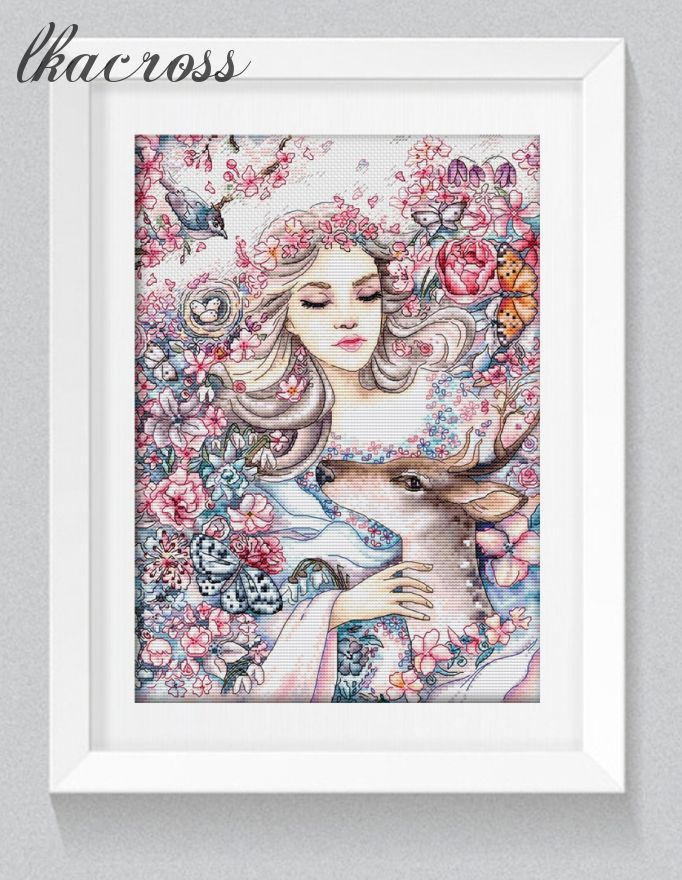 """Tender spring"". Digital cross stitch pattern."