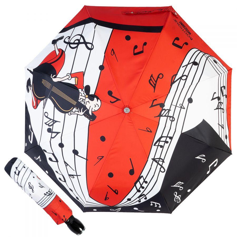 Зонт складной Moschino 7020-OCC Olivia Musician Red