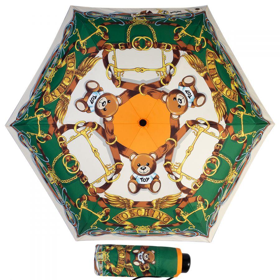 Зонт складной Moschino 8044-superminiA Belts Bear Beige Multi