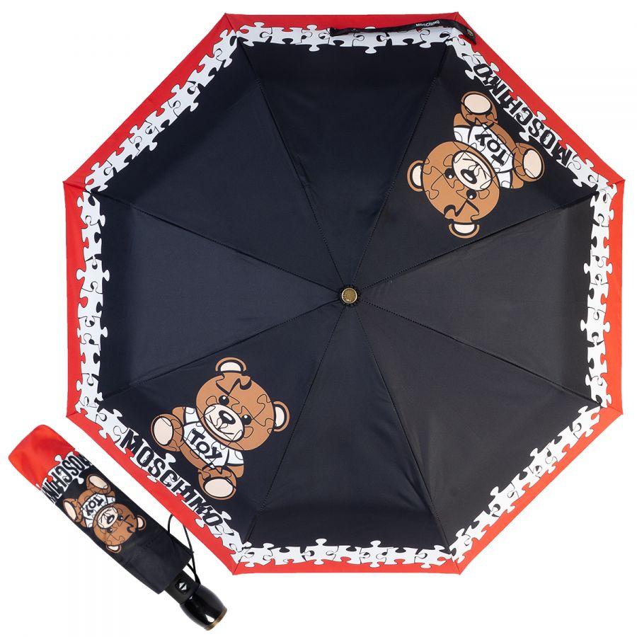 Зонт складной Moschino 8046-OCA Puzzle Bear Black