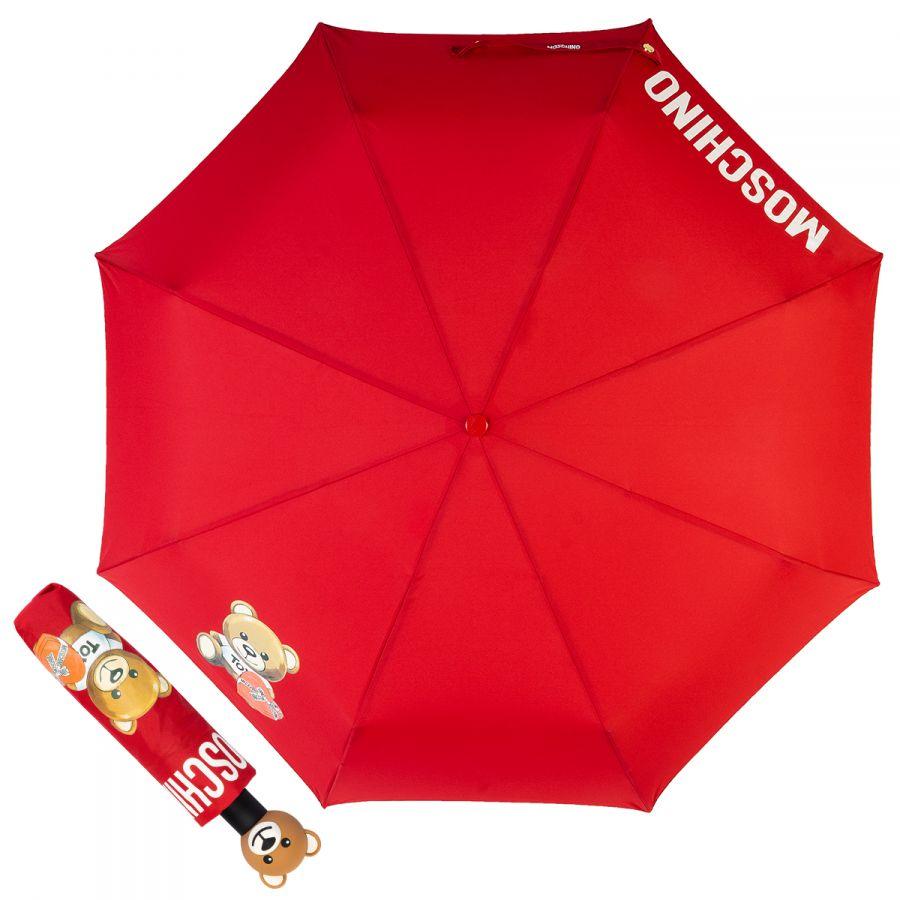 Зонт складной Moschino 8080-OCA Gift Bear Red