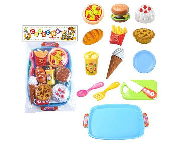 Н228С42 Набор игрушечных продуктов 14 предметов Вкусняшки