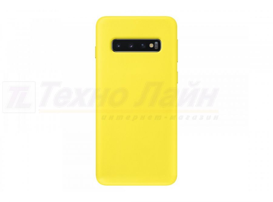 Чехол Samsung Leather Cover S10 yellow