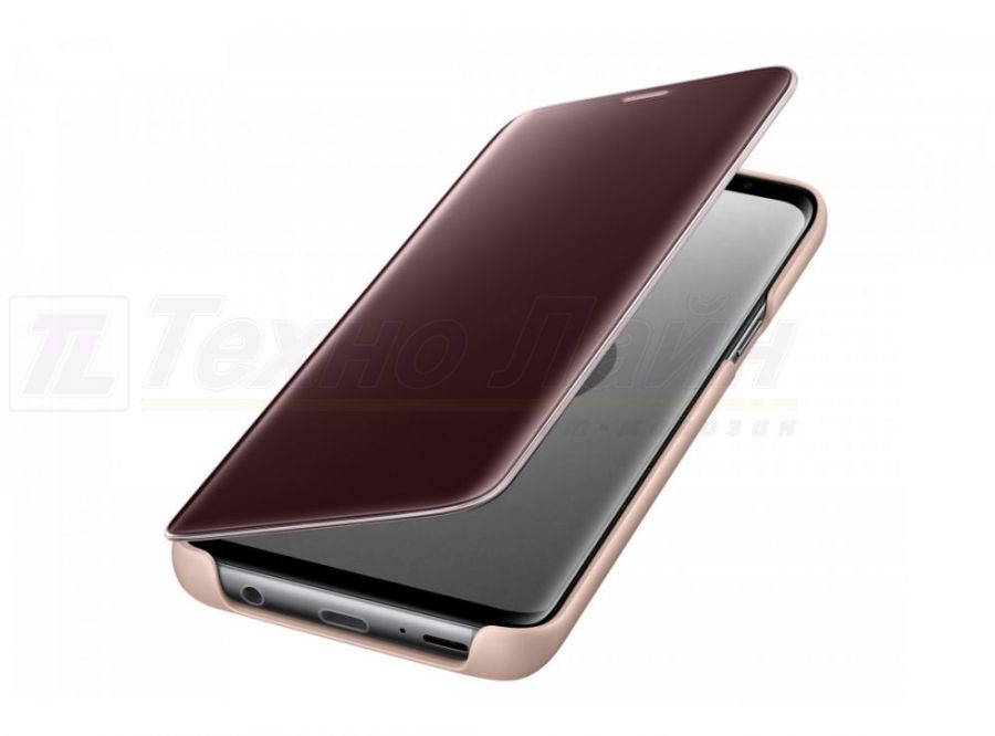 Чехол Samsung Clear View Standing Cover S9 gold