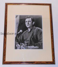 Автограф: Джонни Кэш. Фото 1969 года. Редкость.