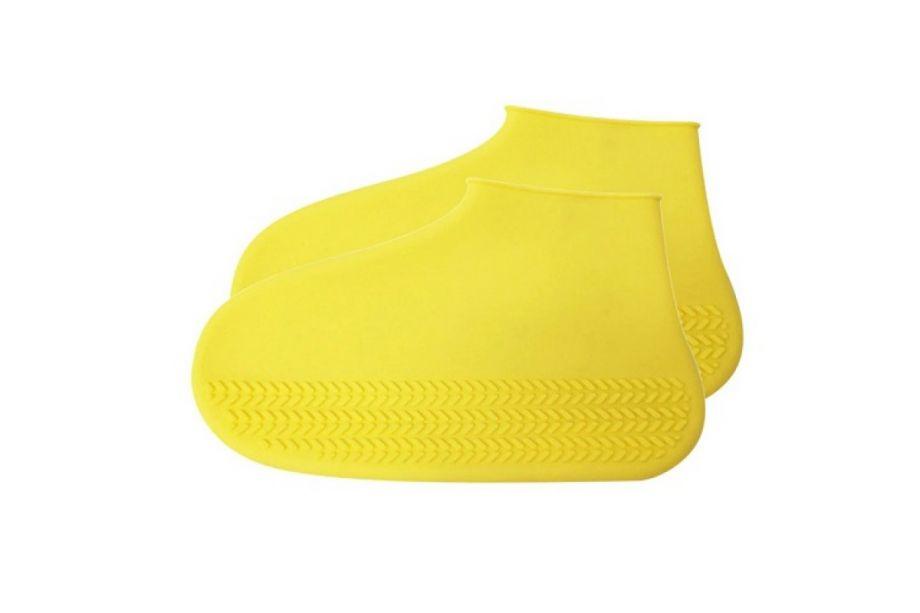 Многоразовые бахилы от дождя Waterproof Silicone Shoe Cover (Желтый)