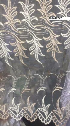 Тюль вышивка на сетке Турция 777