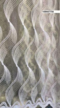 Тюль вышивка на сетке Турция 758