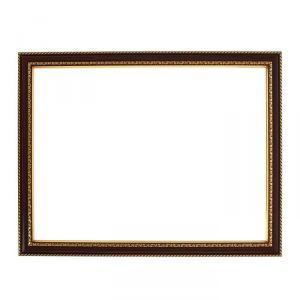 Рама для зеркал и картин, пластик, 30 х 40 х 2.8 см, Calligrata 644858, тёмно-коричневая с золотом