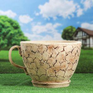 """Горшок для цветов """"Чашка"""" шамот 5194518"""