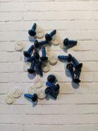 ГЛАЗА для игрушек С ЗАГЛУШКАМИ размер 8 мм материал пластик ЦВЕТ НА ВЫБОР цена за пару