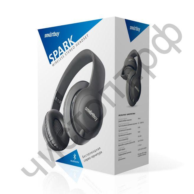 Bluetooth гарнитура стерео Smartbuy SPARK, серая (SBH-7045)
