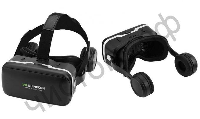 3D ОЧКИ VR-box вирт. реальности + наушники и управл. Shinecon SC-G04E