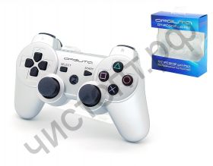 Джойстик для PS3 OT-PCG02 Серебро SIXAXIS DualShock3 2.4GHz Wireless беспроводн.