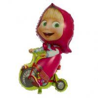"""Шар фольгированный 39"""" «Маша на велосипеде»"""