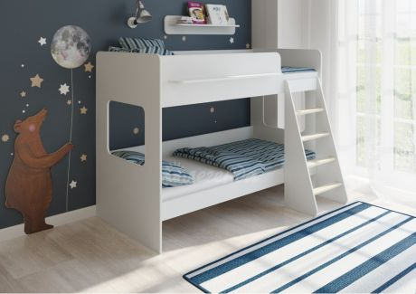 Двухъярусная кровать Легенда 25.1 белая