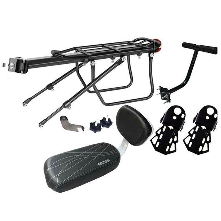 Универсальный багажник-сиденье с ручкой на подседельный штырь