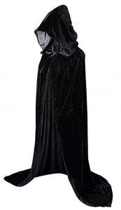 Плащ с капюшоном черный (130 см)