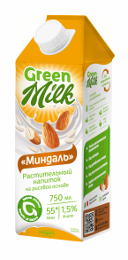 «Миндаль» растительный напиток на рисовой основе