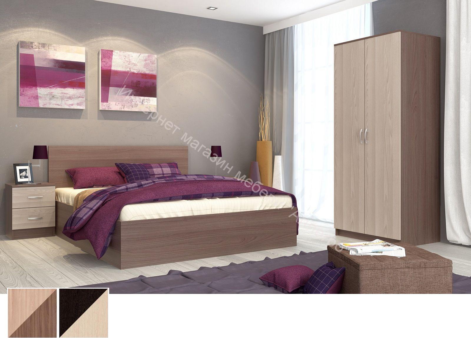 Спальный гарнитур Ронда (готовый комплект)
