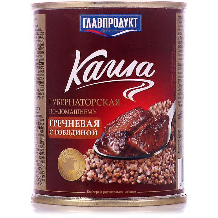 Каша Главпродукт 340г греч. с говяд. ж/б