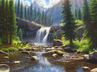 Водопад (Репродукция Марк Китли)