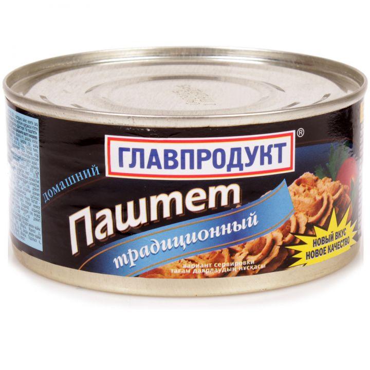 Паштет Главпродукт 315г Домашний традиц. ж/б