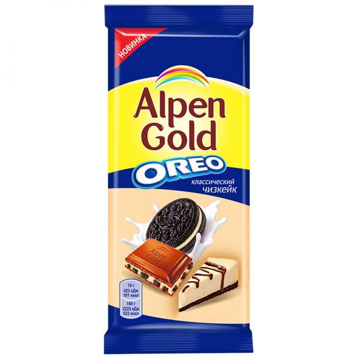 Шоколад Alpen Gold Орео классический чизкейк 95г