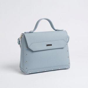Сумка женская, отдел на клапане, наружный карман, цвет голубой