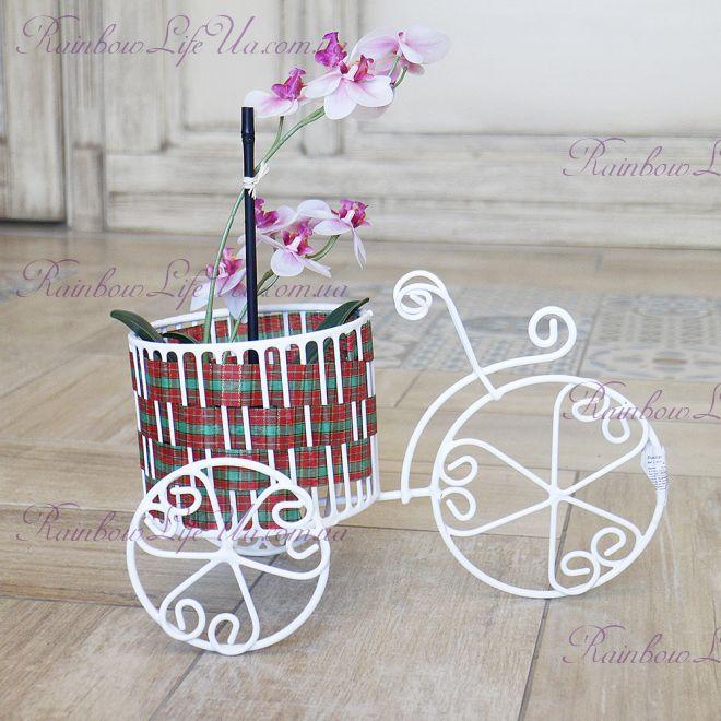 """Кашпо """"Велосипед с корзиной"""""""