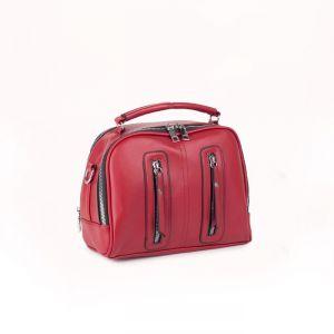 Сумка жен L-91619, 24*10*20, отдел на молнии, нар карман, длин ремень,  красный 5240225