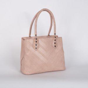 Сумка женская, 2 отдела на молнии, наружный карман, цвет розовый