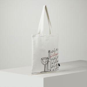 Сумка-шоппер, 1 отдел, цвет белый
