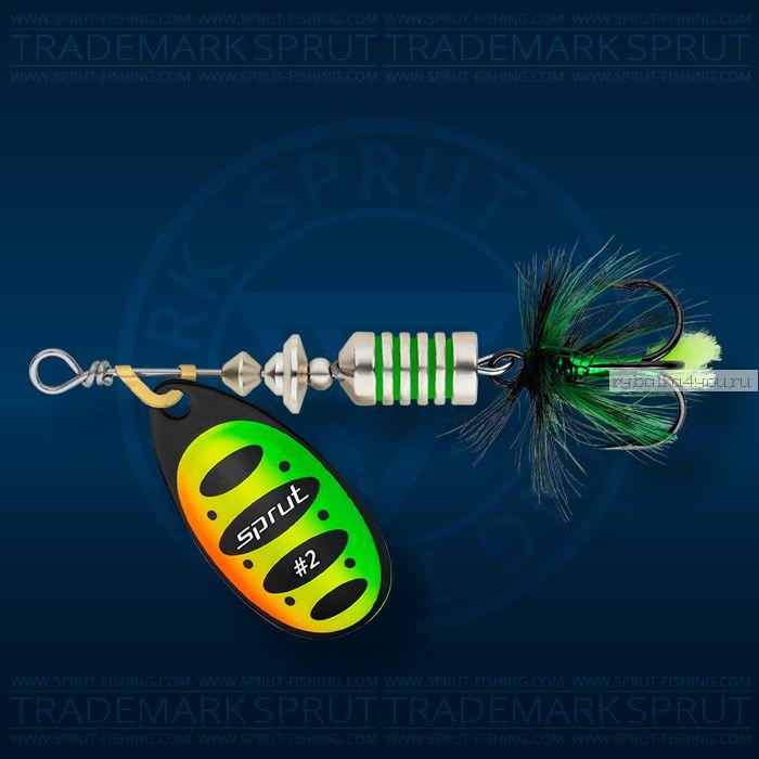 Блесна вращающаяся Sprut Alba Spinner №2 / 5,5 гр / цвет: FT
