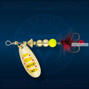 Блесна вращающаяся Sprut Caspia Spinner №3 / 7 гр / цвет: G1