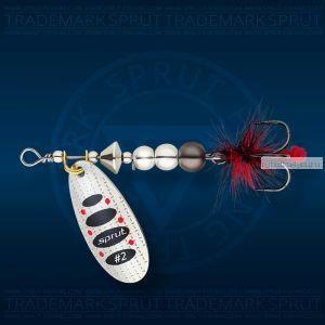 Блесна вращающаяся Sprut Caspia Spinner №3 / 7 гр / цвет: SBK