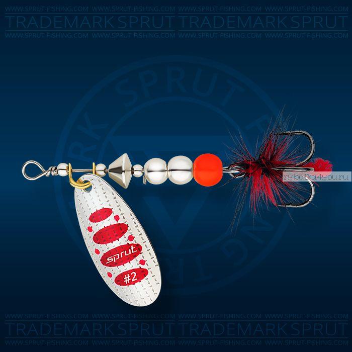 Блесна вращающаяся Sprut Caspia Spinner №3 / 7 гр / цвет: SR