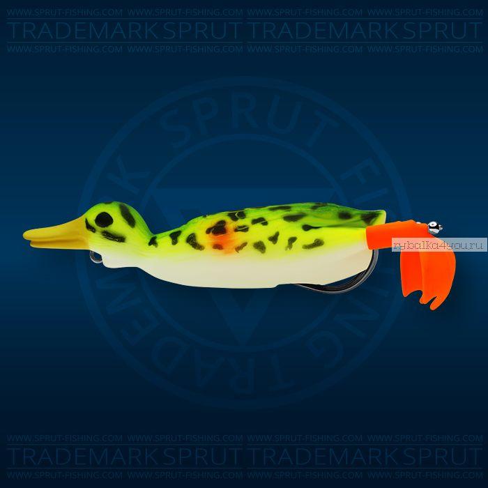 Воблер Sprut Duck Shot 100TW 100мм/16,5 гр / цвет: KW
