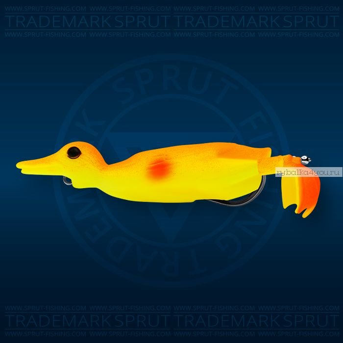 Воблер Sprut Duck Shot 100TW 100мм/16,5 гр / цвет: YA