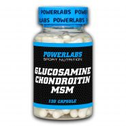 GLUCOSAMINE & CHONDROITIN & MSM от Powerlabs 120 капсул
