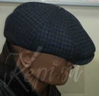 Мужская кепка синяя клетка (Италия-Россия)