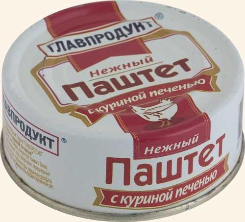 Паштет Главпродукт 90г Нежный курин/печень