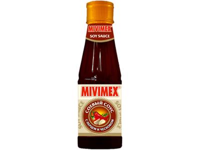 Соус Mivimex соевый с перцем и чесноком пл/б 200г