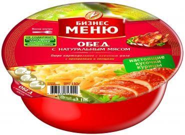 Карт.пюре Бизнес Меню с куриным филе с приправами и овощами пл./ч 110г