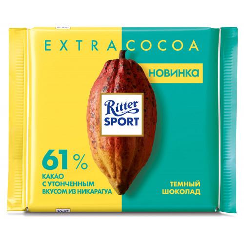 Шоколад Ritter sport Экстра Нат темный 61% какао из Никарагуа100г