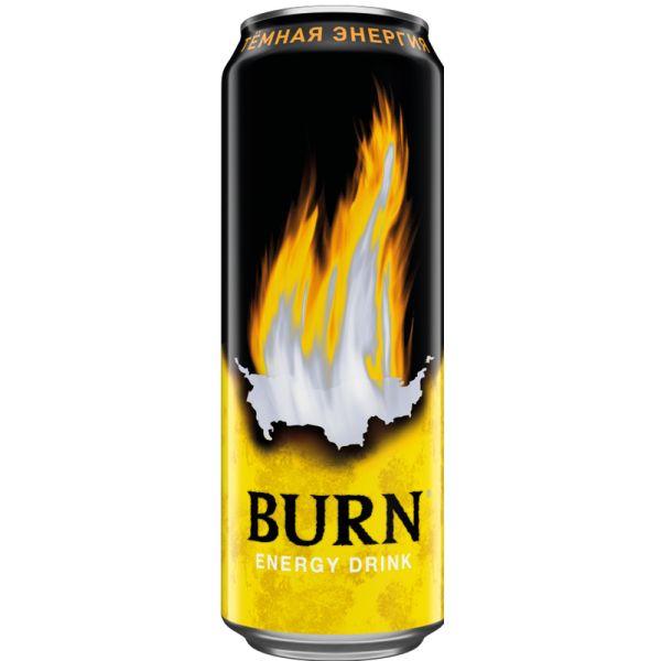 Напиток энерг Бёрн 0,449л ж/б Темная энергия Кока-Кола